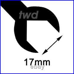 4x WHEEL LOCK BOLTS BMW 5-SERIES (E39 E60 E61 M5) M12x1.5 NUT BLACK ALLOY -Tb