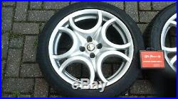 ALFA ROMEO MITO 17 VELOCE ALLOY WHEELS AND TYRES with LOCKING NUTS