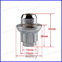 ALLOY WHEEL LOCKING NUTS FLAT SEAT SECURITY LUG BOLT FOR Jaguar S-type X-type XF