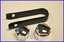AUDI A1 A3 A4 A5 A6 A7 Q5 CHROME WHEEL NUT BOLT COVERS LOCKING CAPS 17mm x20 N 4