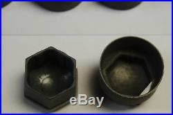 AUDI A3 A4 A5 A6 A7 A8 Q3 Q5 GREY WHEEL NUT BOLT COVERS LOCKING CAPS 17mm x20 2