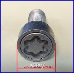 AUDI A6 A7 A8 TT R8 Q2 Q3 Q5 Q7 17mm BOLT WHEEL NUT COVERS LOCKING CAPS BLACK