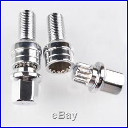 Alloy Wheel Locking Nuts Bolts Lug Anti-theft Studs M14x1.5 for AUDI A3 A4 A5 A6