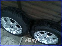 Alloy wheels Ford set of 4 with good tyres and wheel nut set Inc locking