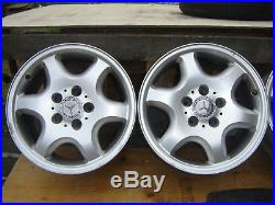 Alloy wheels X 4 Mercedes slk 170 with nuts and 4 X locking nuts & key