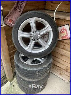 Audi A4 alloys 17with Good Tyres And Locking Wheel Nuts T4. / T5 Transporter