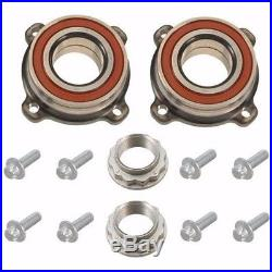 BMW E60 2x Rear Wheel Bearing plus Bolts Lock Nut 525 528 530 535 545 550 Fag
