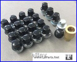 Black Alloy Wheel Nuts Locking Nuts For Range Rover Sport 06-18 Lrc1110