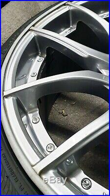 Bmw e63 e64 645 20 mania racing mayfair silver alloy wheels and tyres lock nuts