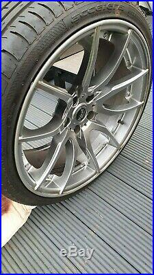Bmw e63 e64 645 20 mayfair mania racing silver alloy wheels and tyres lock nuts