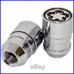 Butzi (12x1.50) Anti Theft Locking Wheel Bolt Nuts & 2 Keys to fit Jaguar X-Type