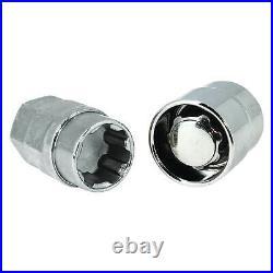 Butzi 12x1.50 Chrome Anti Theft Locking Wheel Bolt Nuts & 2 Keys for Ford B-Max