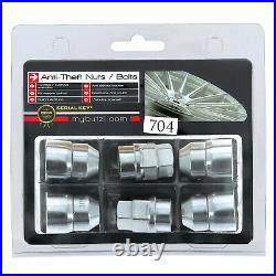 Butzi 12x1.50 Chrome Anti Theft Locking Wheel Bolt Nuts & 2 Keys for Ford Fusion