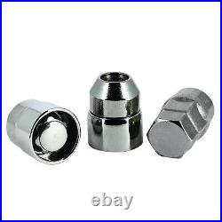 Butzi 12x1.5 Chrome Anti Theft Locking Wheel Bolt Nuts & 2 Keys for Toyota Yaris