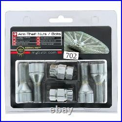 Butzi (14x1.25 L28) Anti Theft Locking Wheel Nut Bolts & 2 Keys for Peugeot 208
