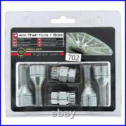 Butzi (14x1.25 L28) Anti Theft Locking Wheel Nut Bolts & 2 Keys for Peugeot 308