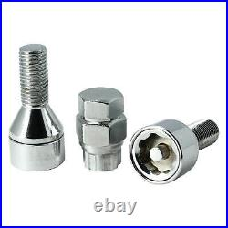 Butzi Chrome Anti Theft Locking Wheel Nut Bolts & 2 Keys for Volkswagen Touran