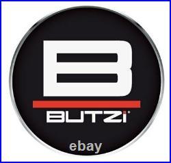 Butzi Chrome Plated Anti Theft Locking Wheel Nut Bolts & 2 Key to fit Fiat Panda