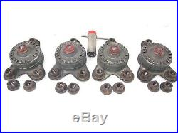 Cadillac GM RED Hubcap Wire Wheel Cover Key 4 Lock Nuts Retainers 20 Lug Nuts