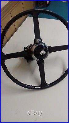 Classic Jaguar XK120 OE 17 Steering wheel complete with Manette, Lock nut etc