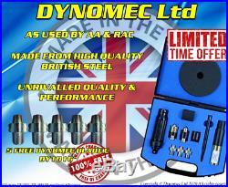 DYNOMEC PROFESSIONAL Locking Wheel Nut Removal KIT Tool Set INC 5 FREE BLADE C