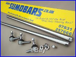 Defender Stainless Steel Heavy Duty steering bars Track Rod Drag Link SUMOBARS