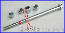Dirt Bike Rear Wheel Axle with Spacers & Lock Nuts M 12 X 220mm