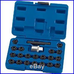 Draper Expert Locking Wheel Lock Nut Key Set for BMW & Most Vehicles (22 Piece)