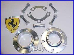 Ferrari 365 Splined Wheel Hub Bolts Nuts Retainer Lock Plates GTB4 Daytona OEM