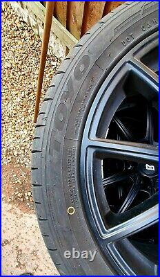 Fit Vauxhall, RC32 Matt Black Wheels X4 With Toyo Proxes Tyres, locking nuts