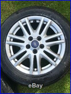 Ford 16 Alloy Wheels 215/55/16 2 New Tyres 5 Nut Lock! In Great Condition