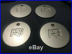 Ford RS Alloy Wheel Centre Caps x4 H85SX1009AA withLocking Nuts & 2 Keys