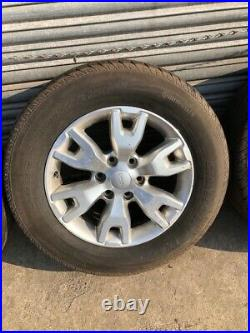 Ford Ranger Wildtrak 18 Alloy Wheels With Tyres And Wheel Nuts Inc Locking