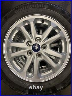 Ford Transit Connect alloy wheels and tyres. 2019, 13k, With Locking Wheel Nuts