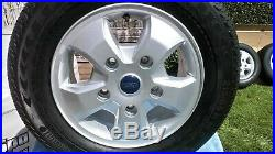 Ford Transit Custom 16'' Set Of Alloy Wheels and Tyres and Full Set Locking Nuts