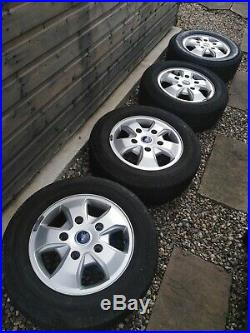 Ford Transit Custom 16inch Alloys including tyres, nuts and locking wheel nuts