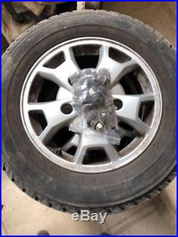 Ford Transit Custom Alloy Wheels 16 factory genuine with tyres nuts & locking
