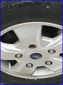 Ford transit custom 16 alloy wheels with tyres with chrome nuts and locking nut