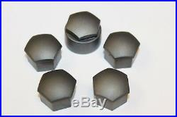 GENUINE AUDI A2 A3 A4 A5 A6 Q5 17mm WHEEL NUT BOLT LOCKING COVERS CAPS x5