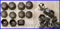 GENUINE AUDI A2 A3 A4 A5 A6 Q5 WHEEL NUT BOLT COVERS LOCKING CAPS x20 used
