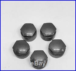 GENUINE AUDI A3 A4 A5 A6 Q5 17mm WHEEL NUT BOLT LOCKING COVERS CAPS x5 ROUND