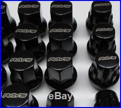 GENUINE RAYS 17HEX Wheel Nuts&Lock Nut Set 31mm For 5H BLACK M12x1.25 FT86 BRZ