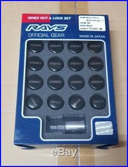 GENUINE RAYS 19HEX Wheel Nut & Lock Nut Set For 5H M12 x 1.25 R34 GTT
