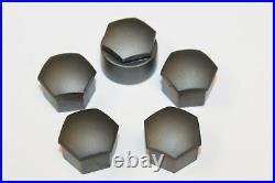 GENUINE SKODA FABIA OCTAVIA SUPERB 17mm WHEEL NUT BOLT COVERS LOCKING CAPS 4+1
