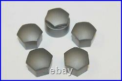 GENUINE WHEEL NUT COVERS FOR AUDI A1 A3 A4 A5 A6 Q5 A7 Q3 17mm BOLT LOCKING x5