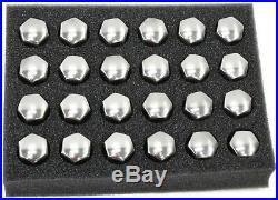 GM Wheel Lock & Lug Nut Kit Chrome 24pc 12451945