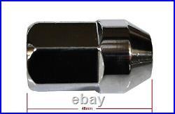 Genuine HSV / Holden Commodore VE VF WM WN Chrome Mag Wheel Nuts & Lock (Set) 22