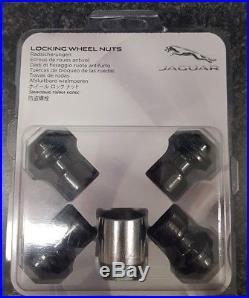 Genuine Jaguar Black Finish Locking Wheel Nuts C2d42935