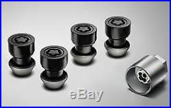 Genuine Jaguar Locking Wheel Nut Set Black C2D42935