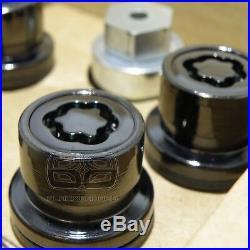 Genuine Land Range Rover Vogue L322 L405 Black Alloy Wheel Nuts Lock Lockers Set